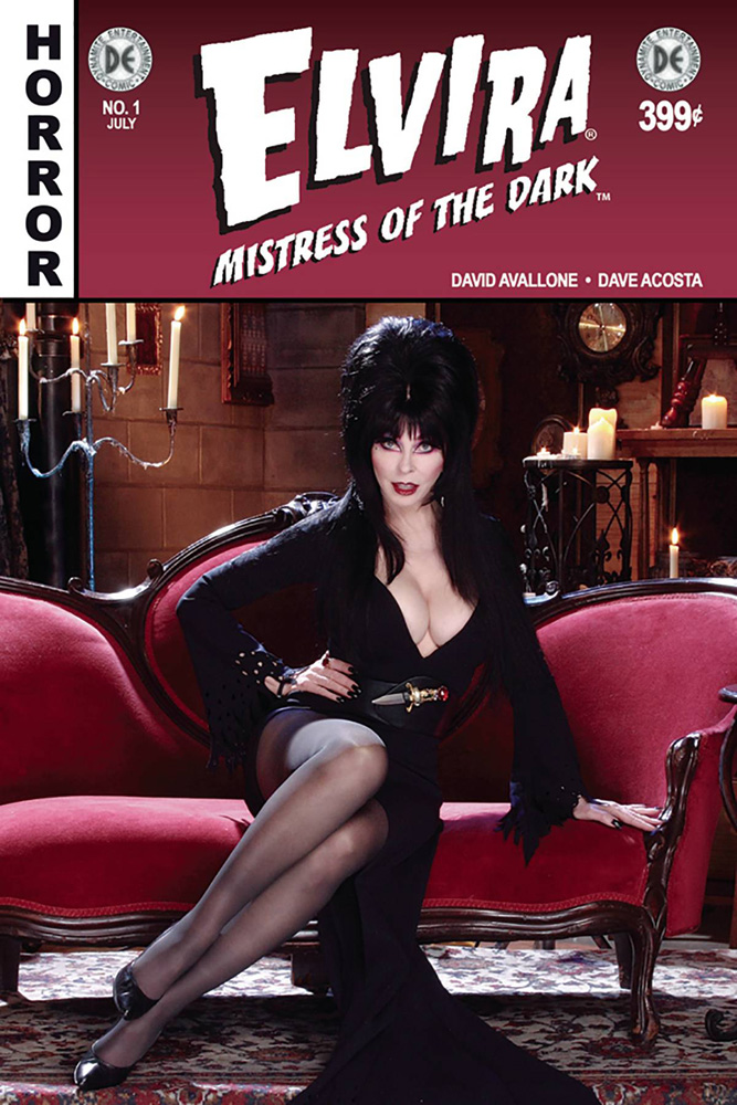 Image: Elvira: Mistress of the Dark #1 (DFE subscription cover - Photo variant signed by Elvira)  [2018] - Dynamite