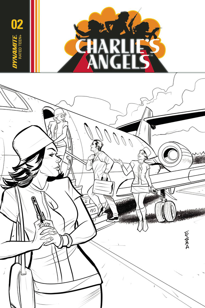 Image: Charlie's Angels #2 (cover C incentive - Eisma B&W) (10-copy)  [2018] - Dynamite