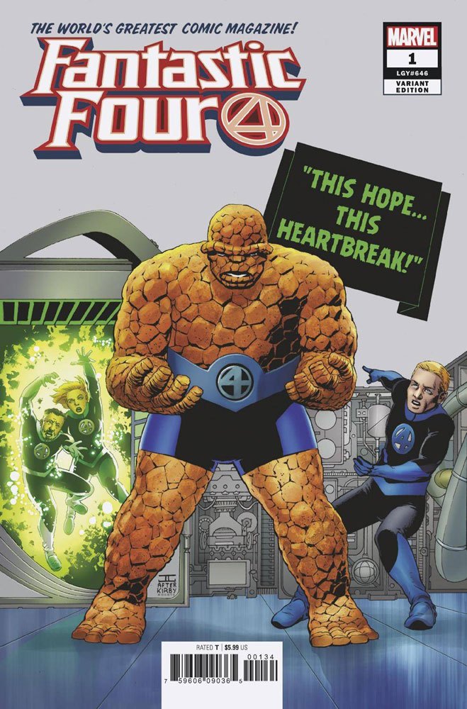 Image: Fantastic Four #1 (variant cover - John Cassaday)  [2018] - Marvel Comics