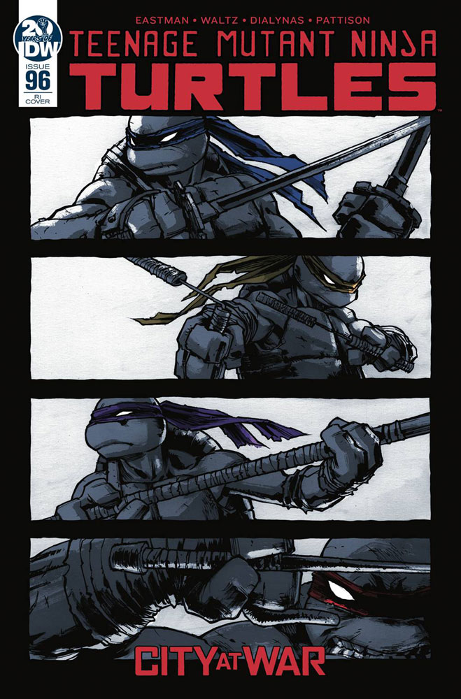 Image: Teenage Mutant Ninja Turtles #96 (incentive cover - Campbell) (10-copy) - IDW Publishing
