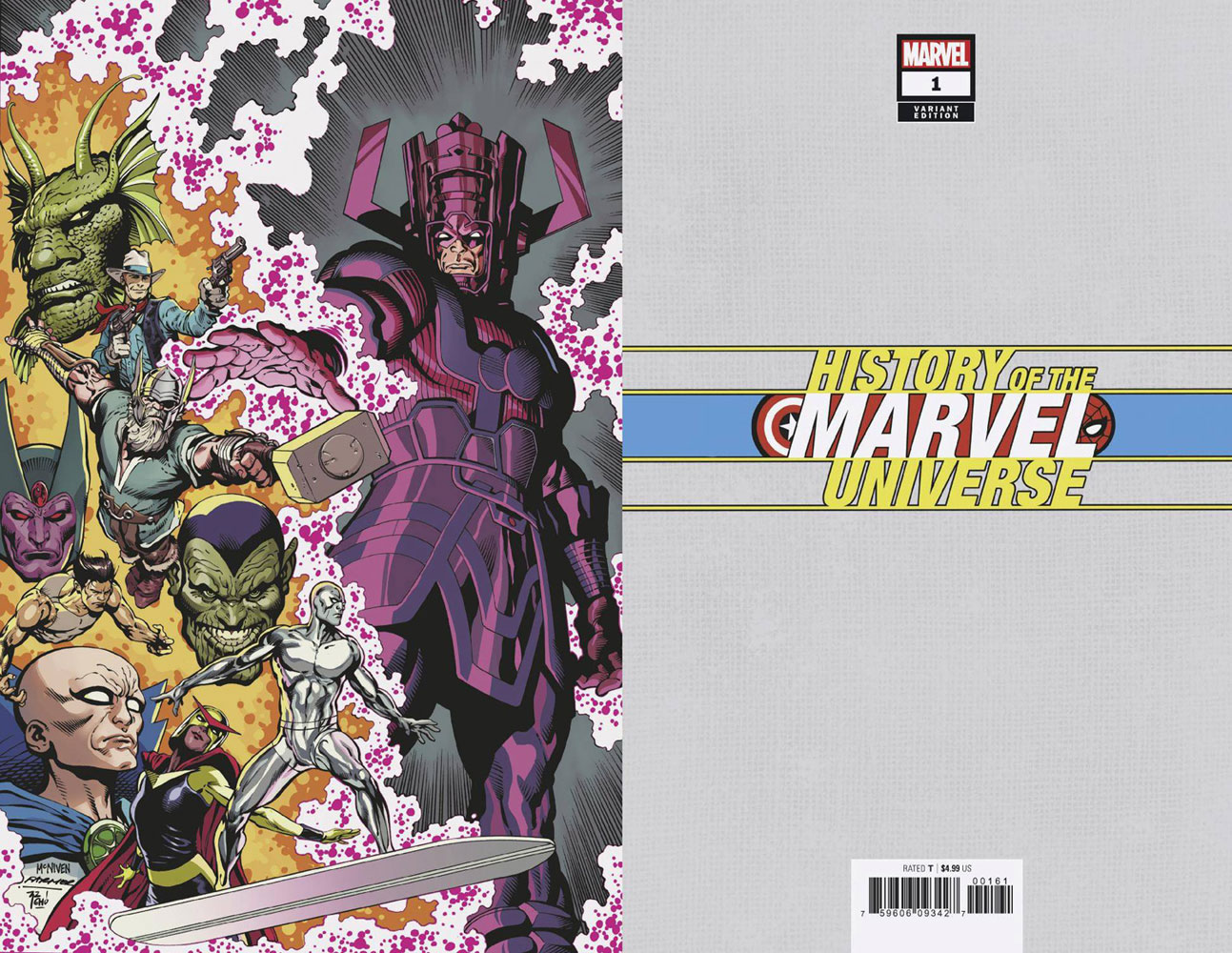 Image: History of the Marvel Universe #1 (incentive cover - McNiven virgin)  [2019] - Marvel Comics