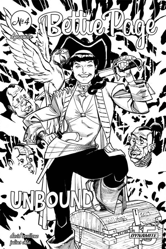 Image: Bettie Page: Unbound Vol. 03 #4 (incentive cover - Williams B&W) (20-copy)  [2019] - Dynamite
