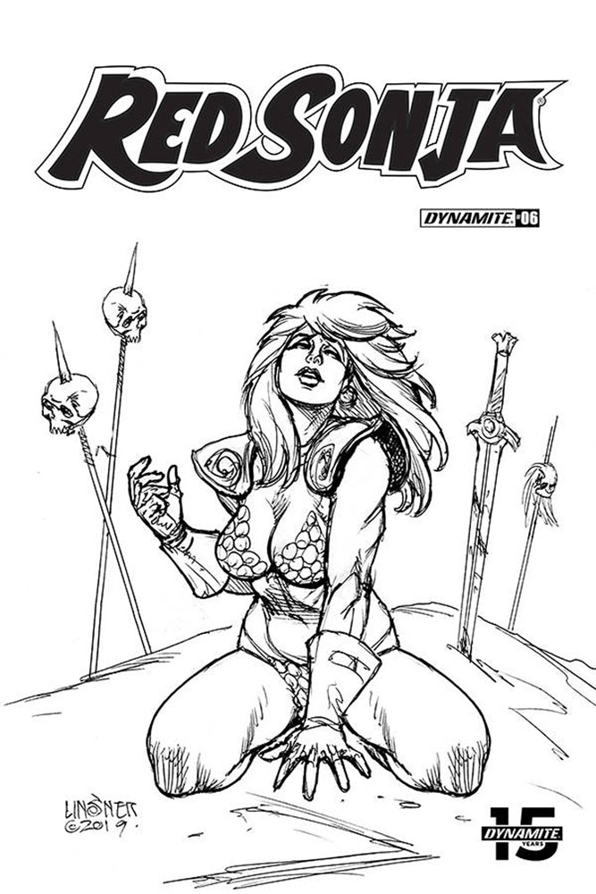 Image: Red Sonja Vol. 05 #6 (incentive cover - Linsner B&W) (30-copy)  [2019] - Dynamite