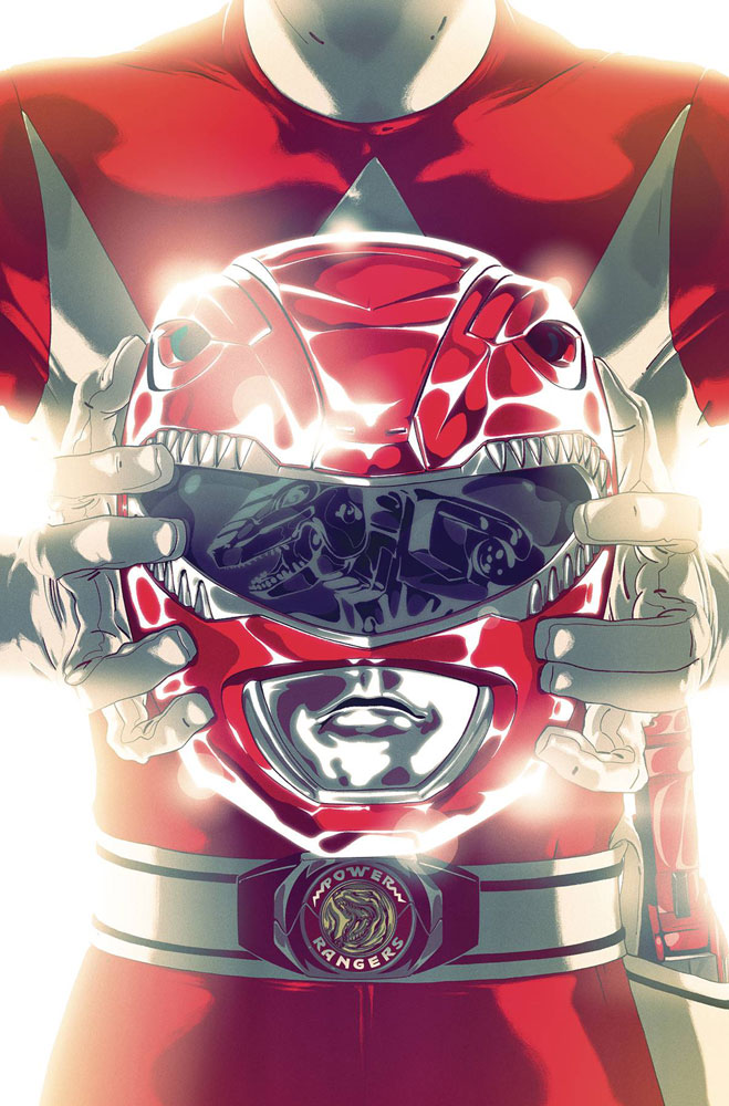 BOOM!//2019 MIGHTY MORPHIN POWER RANGERS #41 GONI MONTES FOIL VARIANT COVER