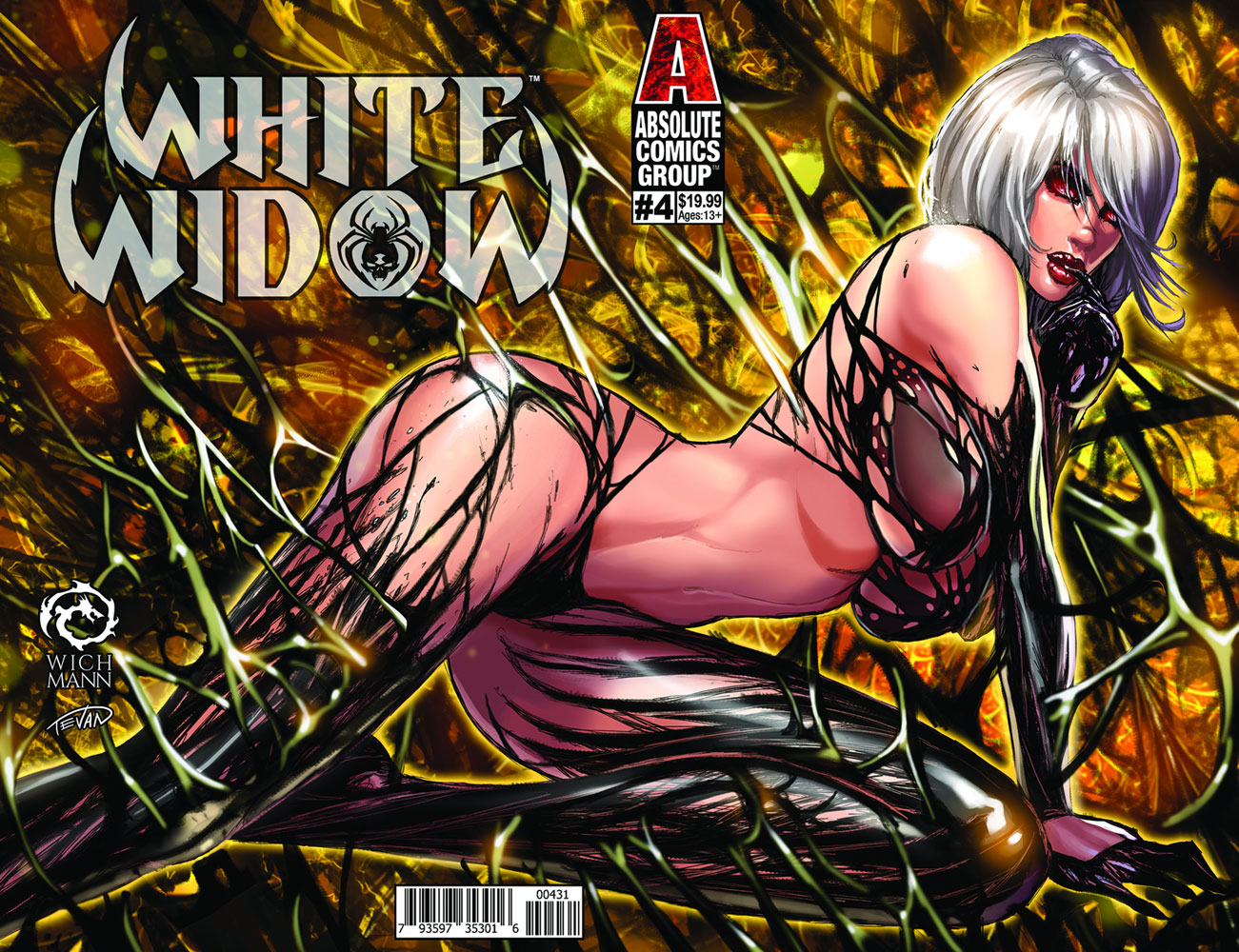 White Widow #4 (cover C - Wichmann Lenticular) - Absolute Comics Group / Red Gi