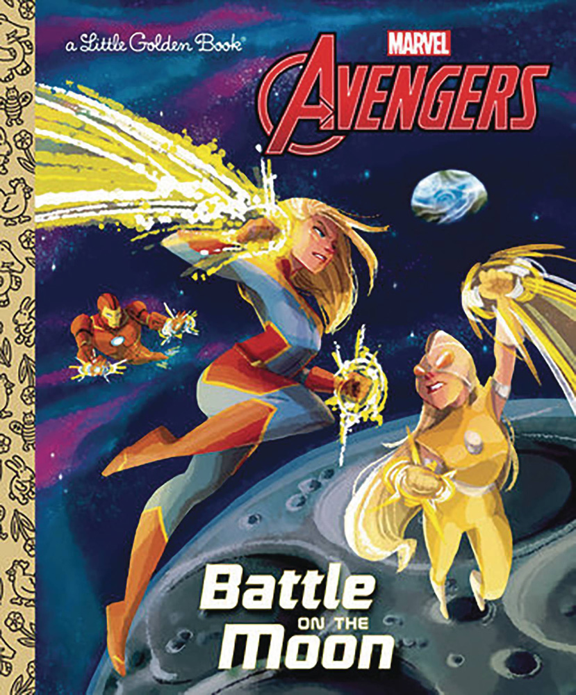 Image: Avengers Little Golden Book: Battle on the Moon  - Golden Books