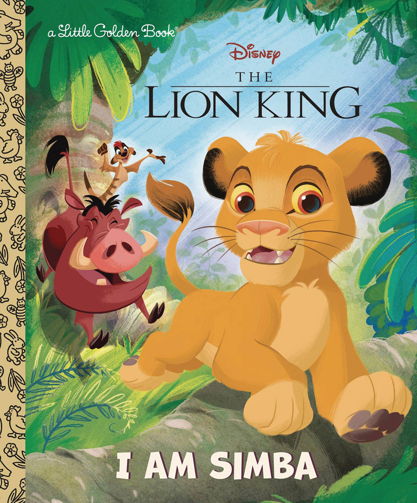 Image: Disney Lion King Little Golden Book: I Am Simba  - Golden Books