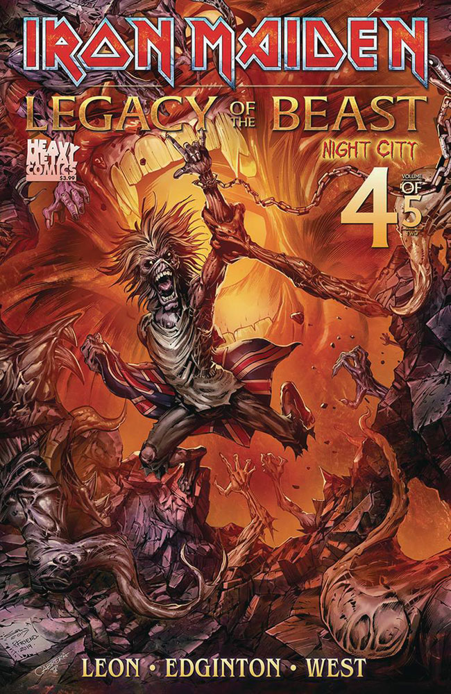 Image: Iron Maiden - Legacy of the Beast Vol. 2: Night City #4 (cover B - TBD) - Heavy Metal Magazine