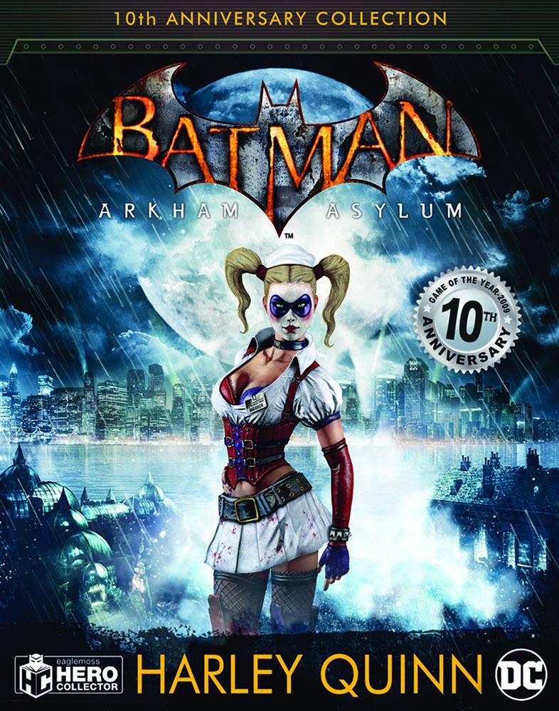 DC Batman Arkham Asylum Figure Collectible #3 (Harley Quinn) - Eaglemoss Publications Ltd