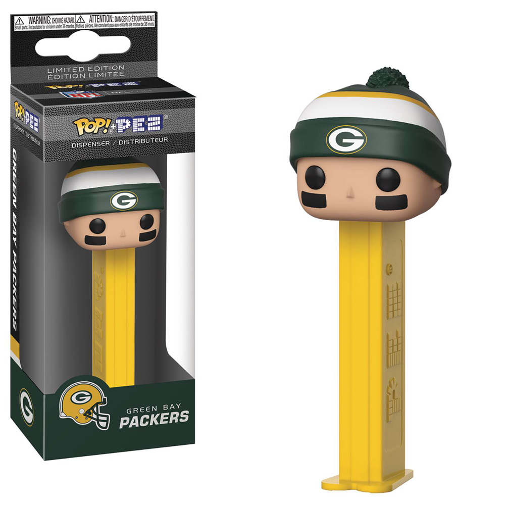 Image: Pop! Pez: NFL - Packers Beanie  - Funko