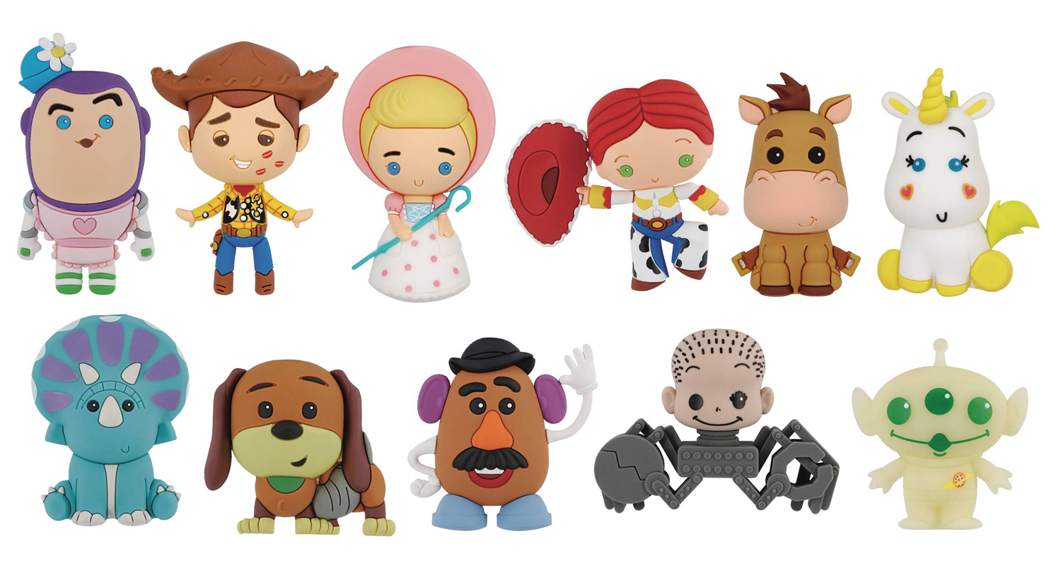 Image: Disney Toy Story Classic Figural Keyring 24-Piece Blind Mystery Box Display  - Monogram Products