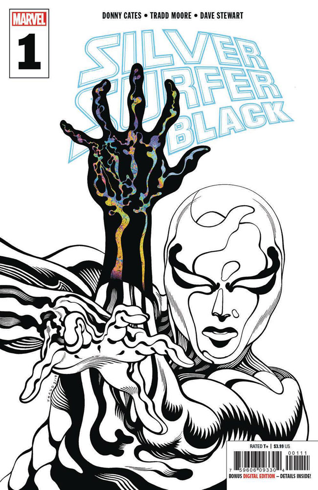 Image: Silver Surfer: Black #1 (variant cover - 3rd printing)  [2019] - Marvel Comics