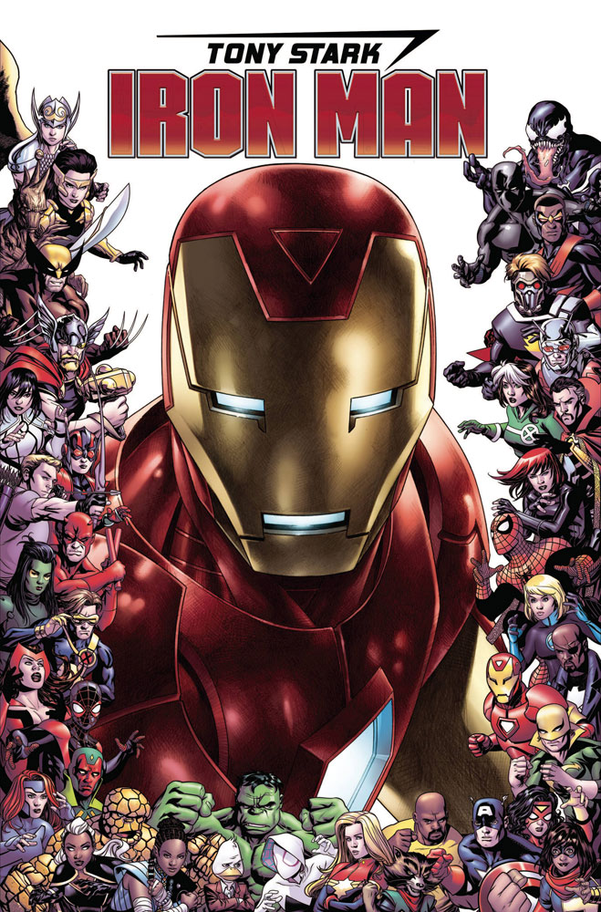 Image: Tony Stark: Iron Man #15 (variant 80th Anniversary Frame cover - Cheung)  [2019] - Marvel Comics