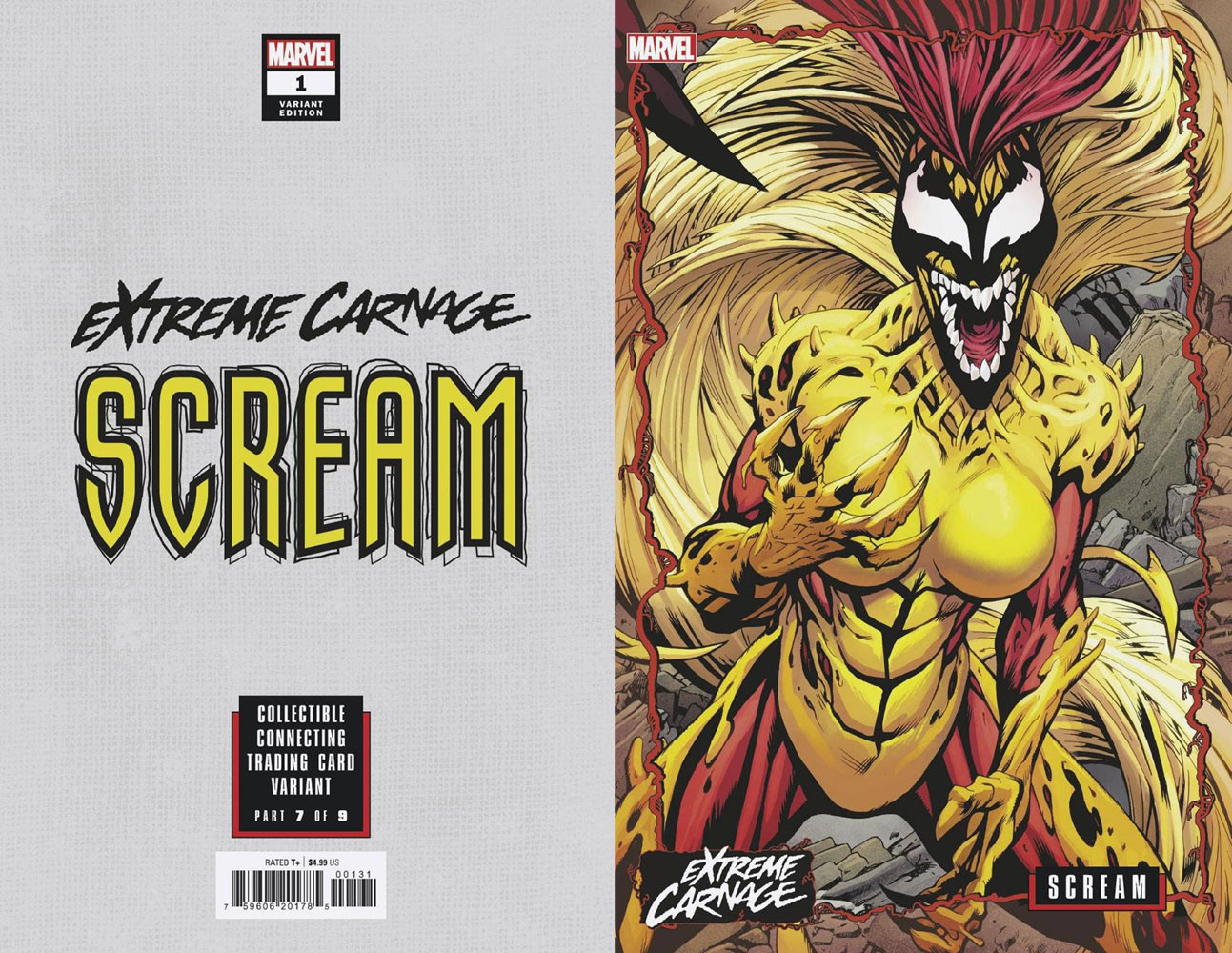 Extreme Carnage: Scream #1 (variant Connecting cover - Johnson)  [2021] - Marvel Comics