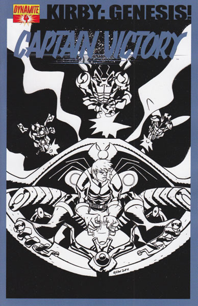 Image: Kirby: Genesis Captain Victory #4 (15-copy Oeming B&W incentive cover) - D. E./Dynamite Entertainment