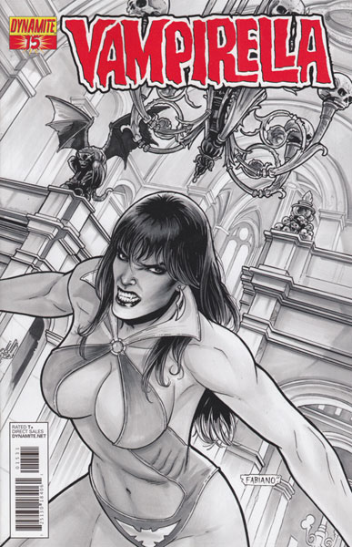 Image: Vampirella #15 (25-copy Neves B&W incentive cover) - D. E./Dynamite Entertainment