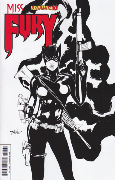 Image: Miss Fury #10 (25-copy incentive cover - Tan B&W) - Dynamite