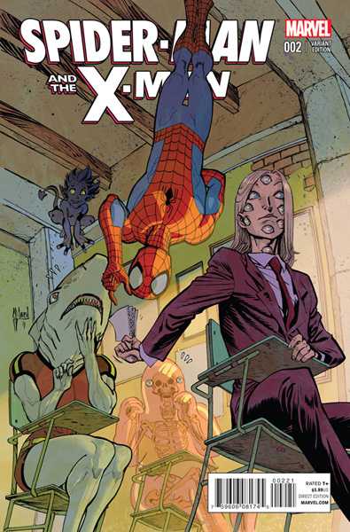 Image: Spider-Man and The X-Men #2 (March variant cover) - Marvel Comics