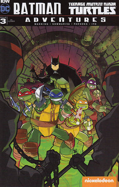 Image: Batman / Teenage Mutant Ninja Turtles Adventures #3 (incentive cover - Ben Harvey) (10-copy)  [2016] - IDW Publishing