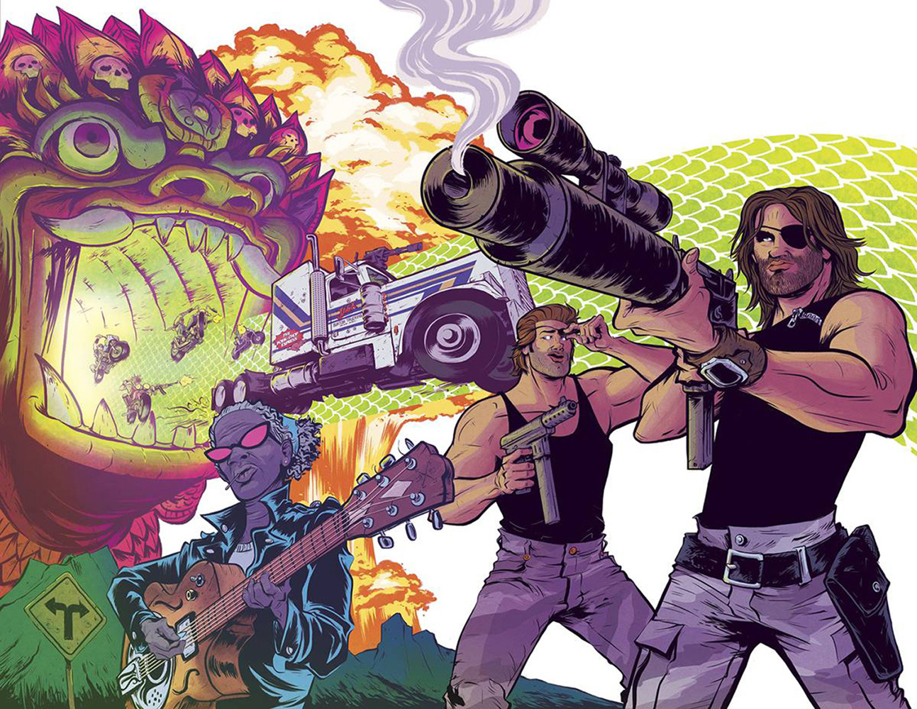 Big Trouble in Little China / Escape from New York #4 (wraparound cover - Bayliss)  [2017] - Boom! Studios