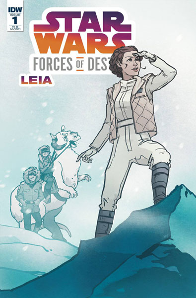 Image: Star Wars Forces of Destiny - Leia  (incentive cover B - Annie Wu) (20-copy)  [2018] - IDW Publishing