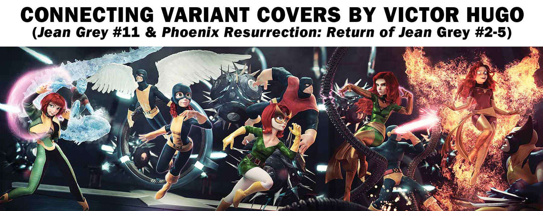 Phoenix Resurrection: The Return of Jean Grey #3 (variant Connecting cover - Hugo)  [2018] - Marvel Comics