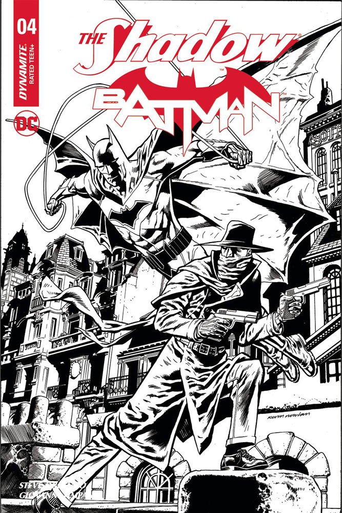 Image: Shadow / Batman #4 (cover J incentive - Nowlan) (50-copy)  [2018] - Dynamite