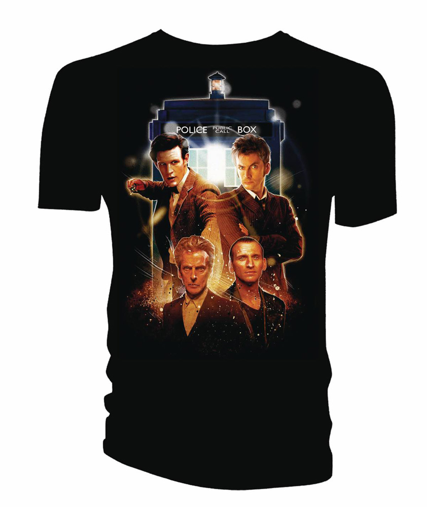 Image: Doctor Who T-Shirt: Poster Art [Black]  (XL) - Titan Books Uk