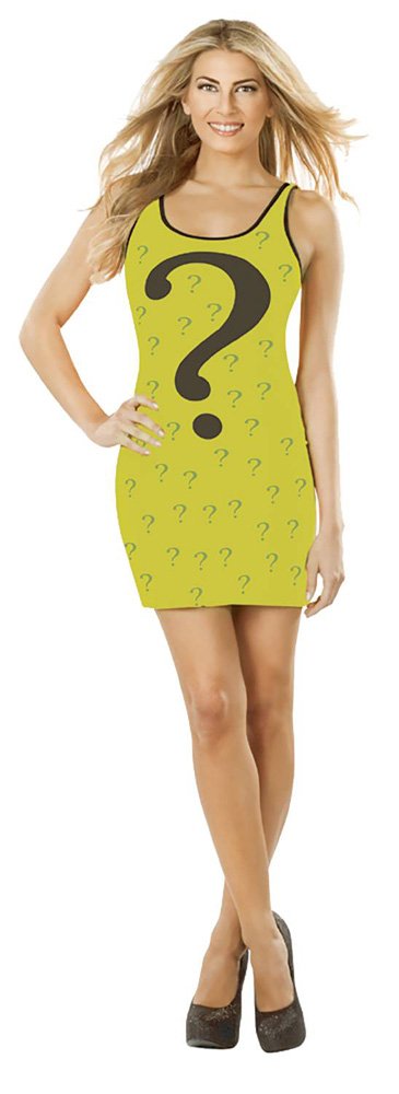 Image: DC Tank Dress: The Riddler  (S) - Rubies Costumes Company Inc