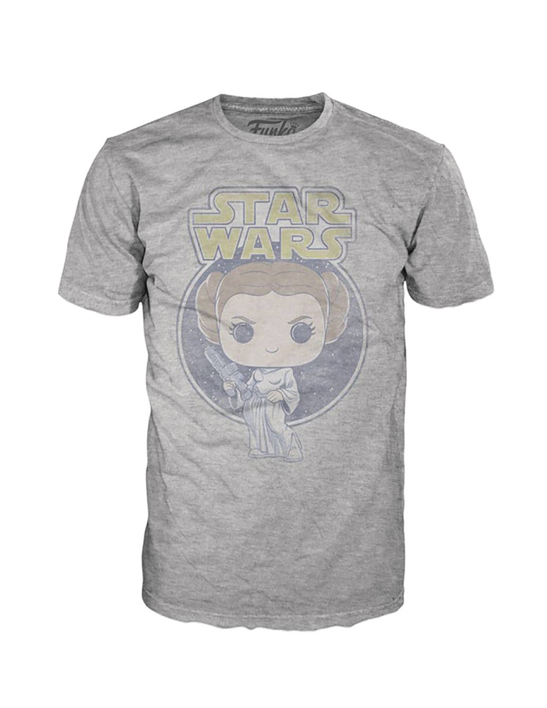Image: Pop! Tees Star Wars T-Shirt: Princess Leia Retro  (M) - Funko