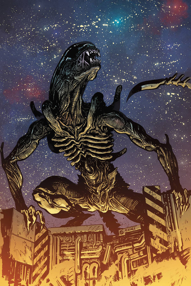 Image: William Gibson's Alien 3 #3 (cover B - Johnson) - Dark Horse Comics
