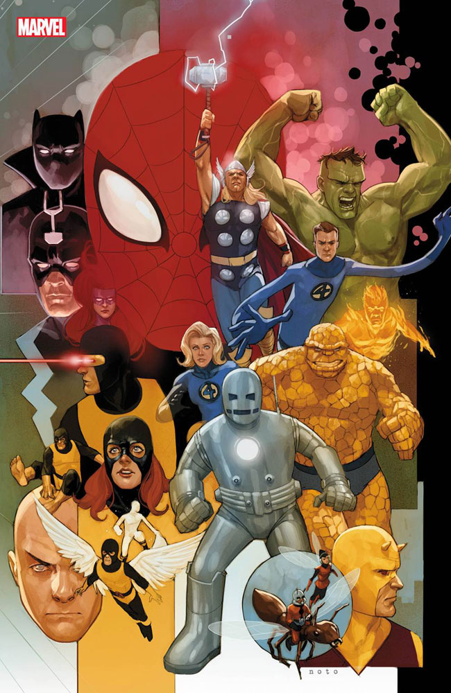 Image: Avengers #12 (variant Marvel 80th cover - Noto) - Marvel Comics