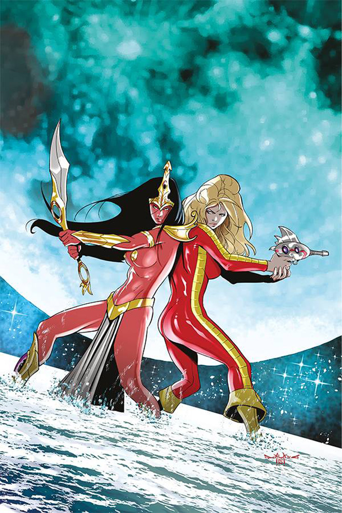 Image: Barbarella / Dejah Thoris #1 (incentive cover - Qualano virgin) (30-copy) - Dynamite