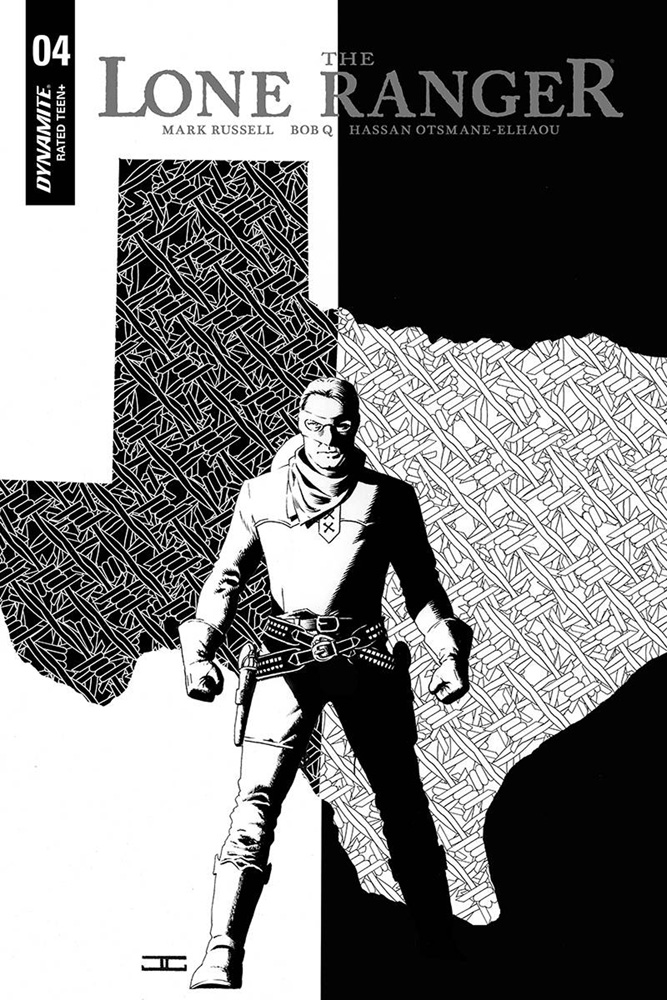 Image: Lone Ranger  #4 (incentive cover - Cassaday B&W) (10-copy)  [2019] - Dynamite