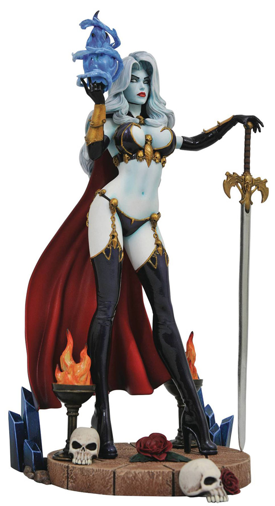 Image: Femme Fatales PVC Diorama: Lady Death  - Diamond Select Toys LLC