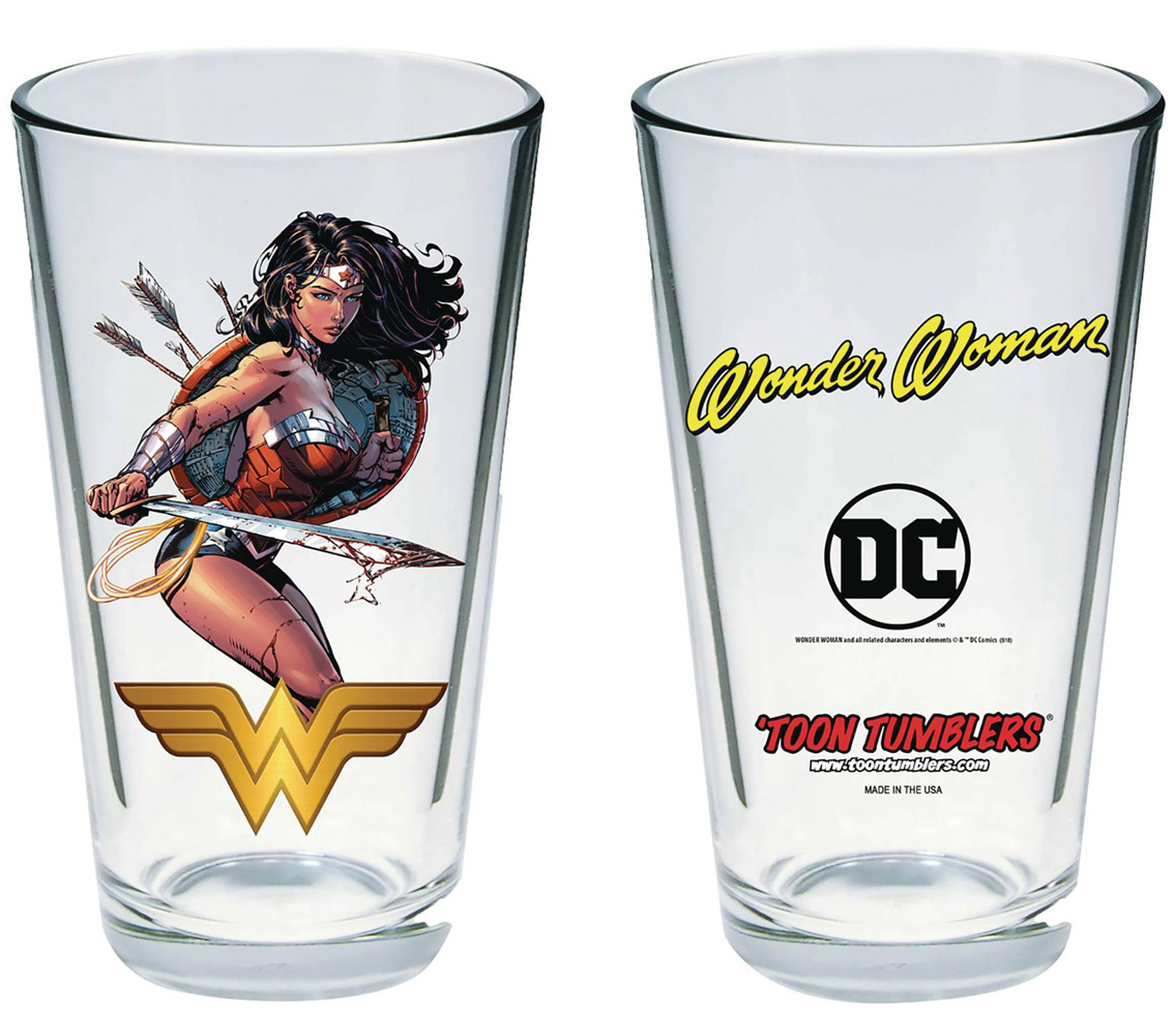 Image: DC Comics Toon Tumblers Pint Glass: Wonder Woman  (Warrior) - Popfun Merchandising LLC