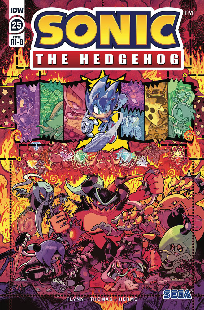 Sonic The Hedgehog 25 Incentive 1 25 Cover Gray Graham Westfield Comics