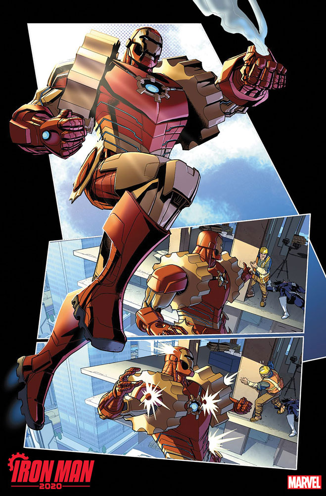 Iron Man 2020 #1 (variant Connecting cover - Bianchi)  [2020] - Marvel Comics
