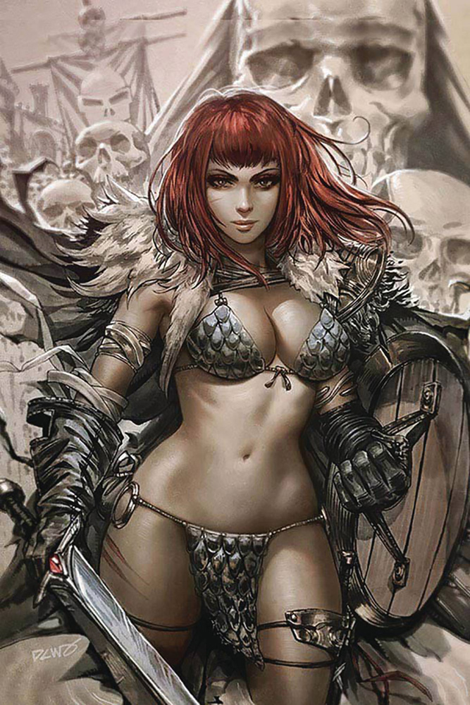 Image: Vampirella / Red Sonja #1 (variant CGC Graded cover - Chew) - Dynamite