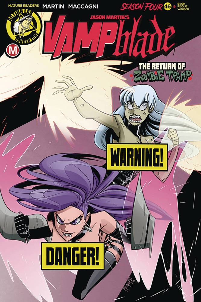 Image: Vampblade: Season 4 #9 (cover B - MacCagni risque) - Action Lab - Danger Zone