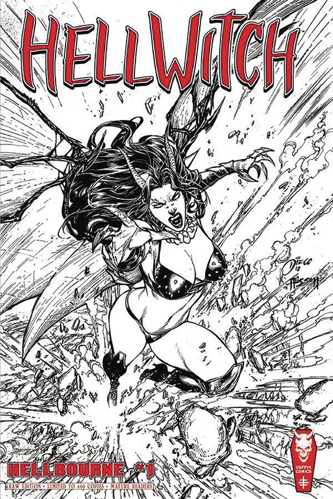 Image: Hellwitch Hellbourne #1 (S&N Raw edition) - Coffin Comics