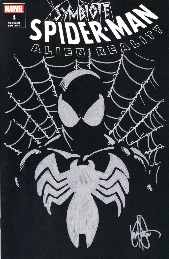Image: Symbiote Spider-Man: Alien Reality  (DFE signed - Haeser Remark) - Dynamic Forces