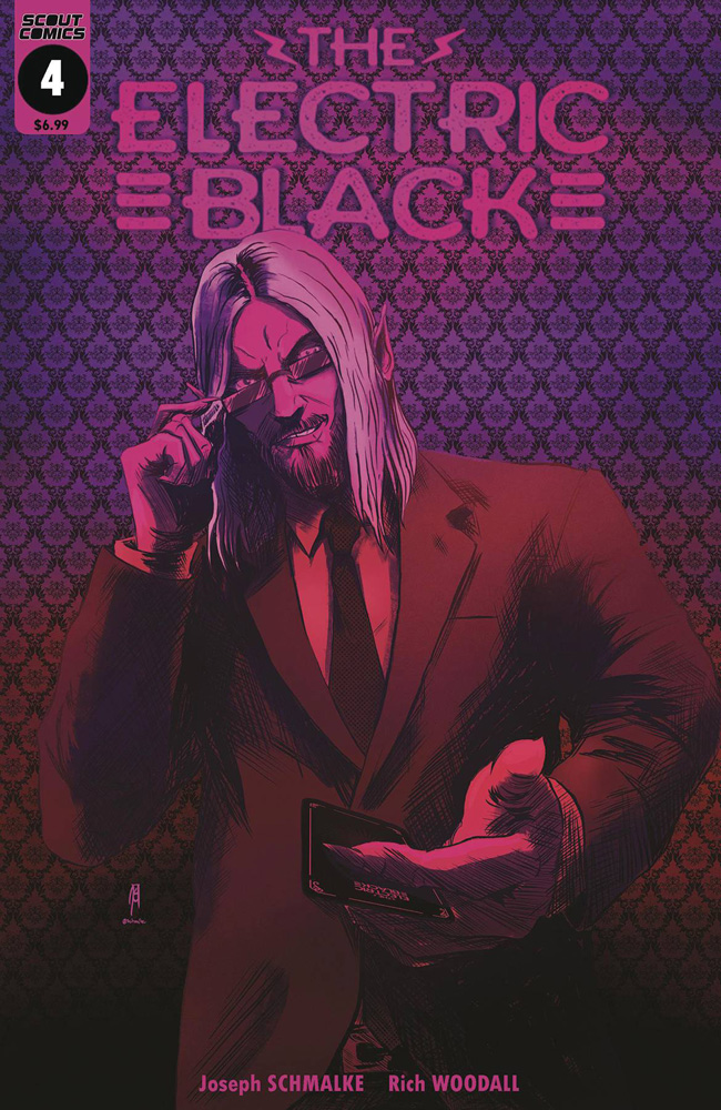 Image: Electric Black #4 (cover B - Neon variant) - Scout Comics