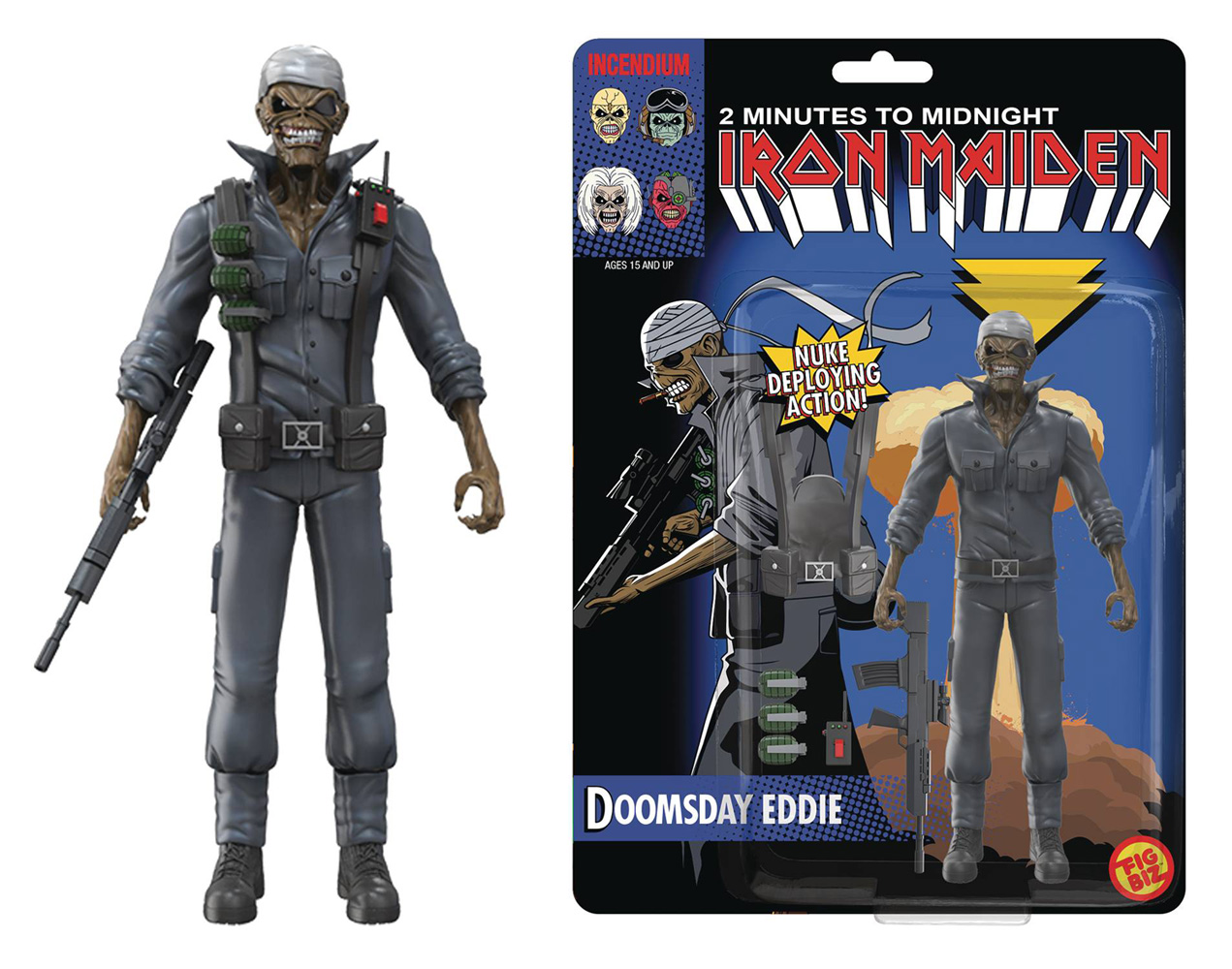 Image: Legacy of the Beast Iron Maiden Action Figure: Doomsday Eddie  (5-inch) - Incendium LLC