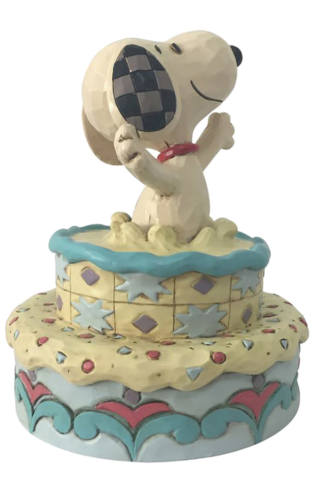 Charlie Brown Figure: Snoopy Jumping Out of Cake  - Enesco Corporation