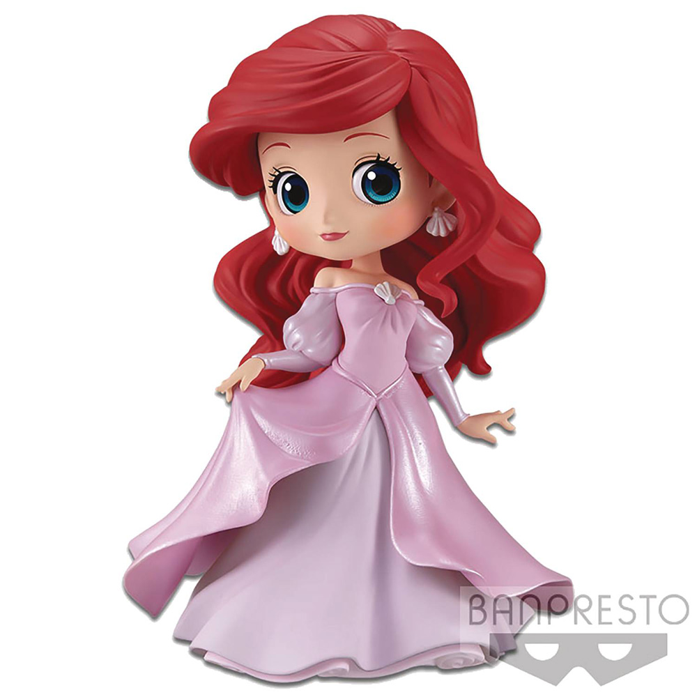 Image: Disney Q-Posket Figure: Ariel  (Dress) - Banpresto
