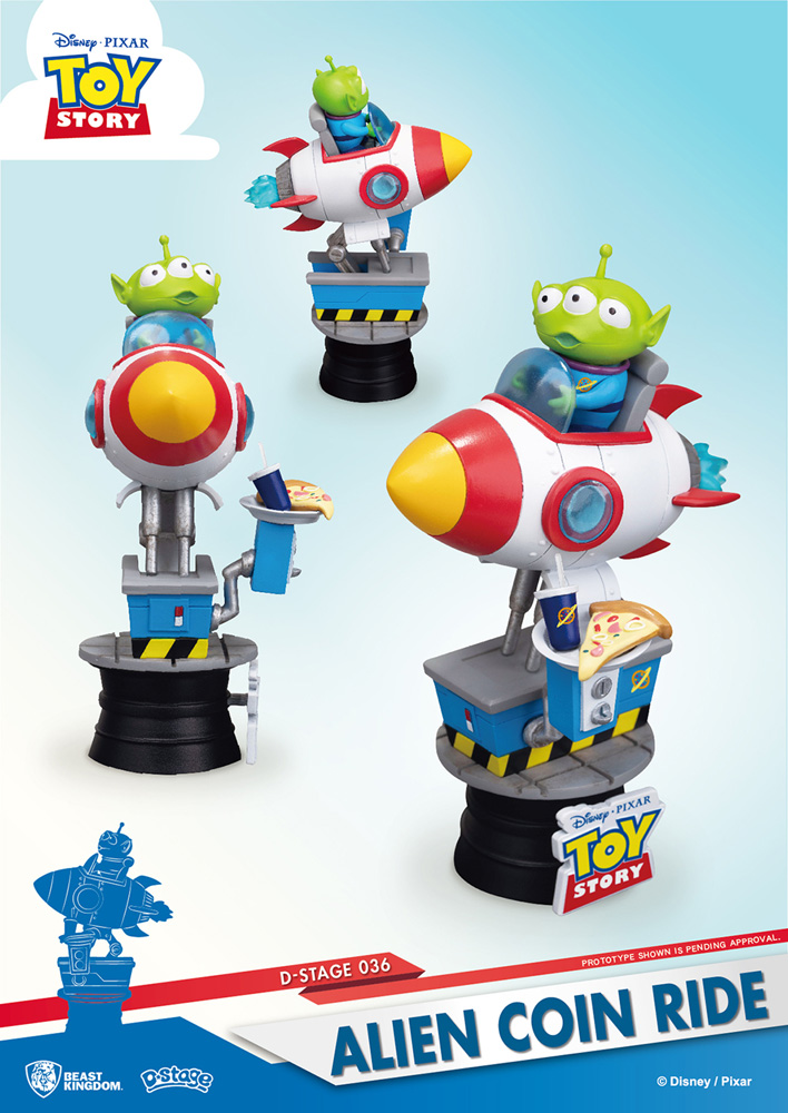 Toy Story DS-036 Alien Coin Ride D-Stage Series Statue  (6-inch) - Beast Kingdom Co., Ltd