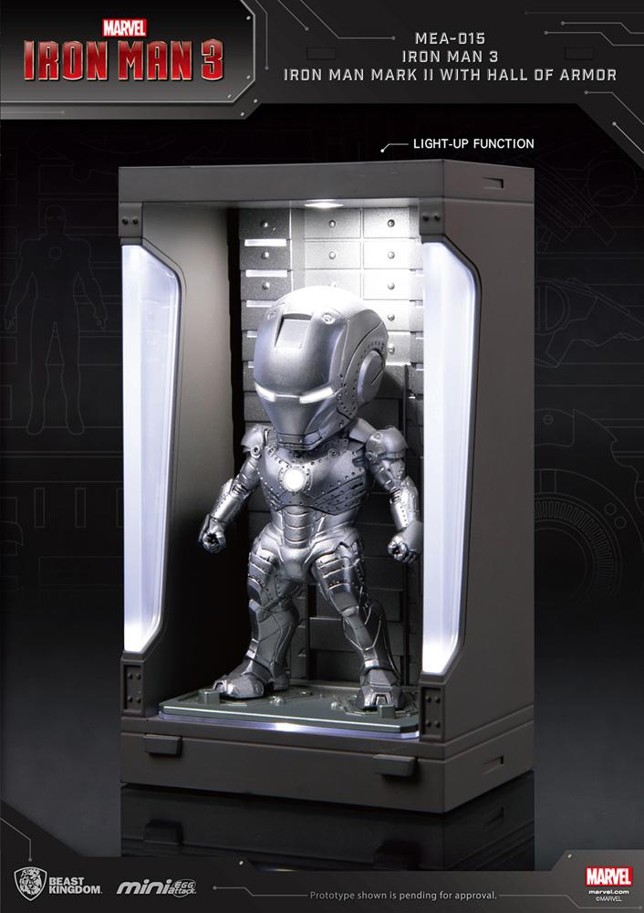 Iron Man 3 Mea-015 Figure: Iron Man Mk II  (w/Hall of Armor) - Beast Kingdom Co., Ltd