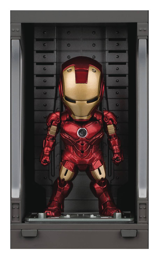 Image: Iron Man 3 Mea-015 Figure: Iron Man Mk IV  (w/Hall of Armor) - Beast Kingdom Co., Ltd