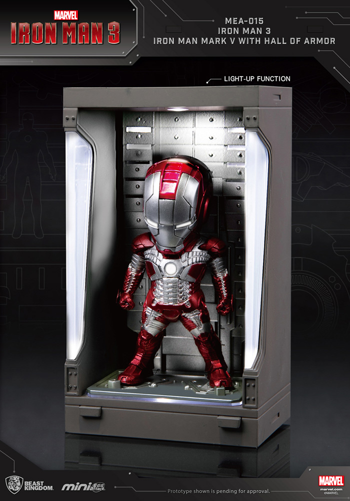 Iron Man 3 Mea-015 Figure: Iron Man Mk V  (w/Hall of Armor) - Beast Kingdom Co., Ltd